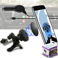 Magnetic Air Vent In Car Holder & Car Charger for BlackBerry 8520 Curve, 9300 3G