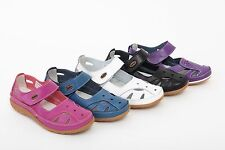 Womens Ladies Coolers Leather Walking Casual Sandals Mary Jane Shoes Comfy Shoes