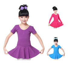 Girls Gymnastics Leotard Dress Toddlers Ballet Dance Tutu Skirts Party Dancewear