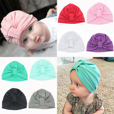 Baby Girls Toddler Indian Style Stretchy Solid Turban Hat Hair Head Wrap Cap Hat