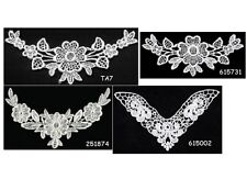 ~-~ Pretty Venise Lace Sew-on Appliques CHOICE of Style ~ Package of Two
