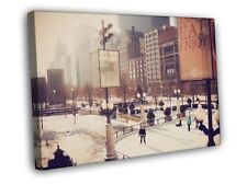Cityfront Illinois Chicago USA Snow Winter WALL FRAMED CANVAS PRINT