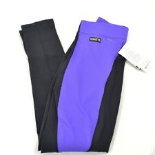 Kerrits Flow Rise Performance Riding Tights/Breeches - Violet/Black - SALE