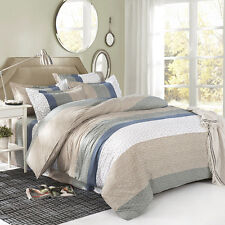 Marble Grey Twin Double Queen King Bed Set Pillowcases Quilt Duvet Cover Ous