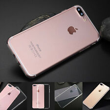 For iPhone 7/7 Plus Skin Cover Ultra Thin Slim Silicone Soft Clear TPU Back Case