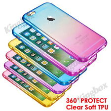 Shockproof 360° Silicone Protective Clear Case Cover For iPhone 6 6s Plus 7 plus