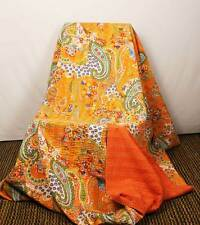 Kantha Blanket baby Bedding Indian Throws Bed covers Handmade Quilt Cotton decor