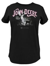 NEW Ladies John Deere Black Deer Scene T-Shirt Sizes  L XL XXL