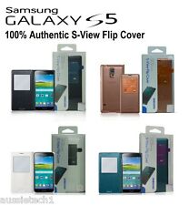 Original Samsung S View Window Flip Cover Folio Case For Samsung Galaxy S5