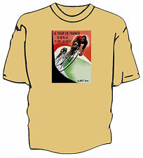 Retro Tour de France poster art cycling t-shirt