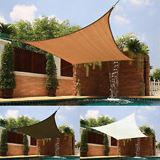 Meduim Square Sail Sun Shade Awning Outdoor Canopy Patio Pool Top Cover Shelter