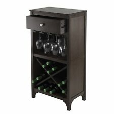 Winsome Ancona Modular 24 Bottle Wine Cabinet with One Drawer and Stemware Rack