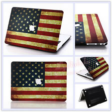 """USA Flag Frosted Matt Hard Case Cover for MacBook 12"""" Air Pro 11"""" 13"""" 15"""" Retina"""