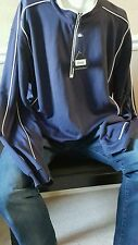 **NWT Bolle Golf 2XL XXL Thermal Pullover Quarter 1/4 Zip Navy Blue Excellent**