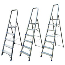 ALUMINIUM STEP LADDER LADDERS 5 6 7 8 STEP LIGHTWEIGHT PLATFORM LADDERS