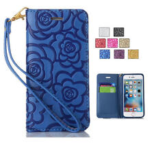 For iPhone 6 6S 7 Plus Magnetic Leather Wallet Stand Card Slot Flip Cover Case