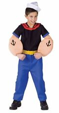 CHILDRENS/TODDLERS POPEYE THE SAILOR MAN FANCY DRESS COSTUMES - CH 12/14
