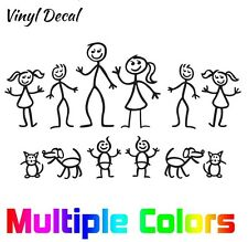 Stick Figure Family Stickers - Car SUV Truck Window Decals