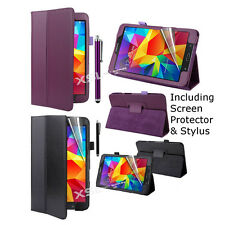 Smart Case Cover + Screen Protector & Stylus for 7 inch Galaxy Tab J, Tab J Max