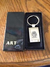 King Tut Key Chain in Silver from Egypt NIB
