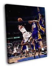 Allen Iverson Philadelphia 76ers Sixers Shot FRAMED CANVAS WALL PRINT