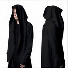 New Men's Fashion Avant-Garde Dark Punk Hood Charcoal Cape Cardigan Jacket HOT G