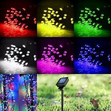 100 LED Solar Power String Lights Outdoor For Party Garden Fairy Lamp 4 color
