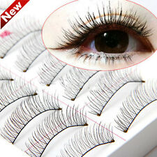 10 Pairs Makeup Handmade Natural Long False Fake Eyelashes Eye Lashes Sparse 1N