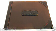 Game Register , Game Record Book Hand made leather & Canvas Hardback Large Brown
