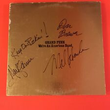 GRAND FUNK RAILROAD WE'RE AN AMERICAN BAND LP ALBUM COMPLETE SIGNED X3 FARNER +2