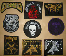 ORCHID PENTAGRAM JEX THOTH  WITCHFINDER GENERAL  Embroidered PATCH