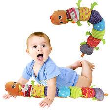 Musical Carpenterworm Stuffed Toy Rattle Ring Bell Doll For Baby Christmas Gift