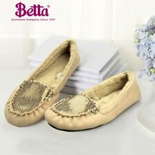 Betta Womens Ladies Home Warm Anti-skid Pregnant Velvet Casual Crystals Slippers