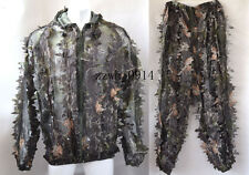 Fast Dry Camouflage 3D Leafy Hunting Ghillie Suit Dark Woodland Suit