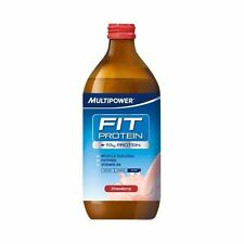 Multipower  Fit Protein  Strawberry | 500ml | - Bulk Buy & Multipacks