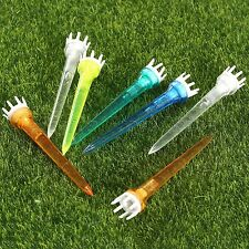 50/100Pcs 78mm Plastic Golf Crown Booster Tees Reduce Friction Golf Tees