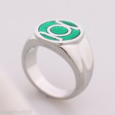 2016 DC Comic Green Lantern Superhero Green Enamel Silver Power Ring Marvel NEW