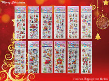 Christmas Stickers for Kids Santa Xmas Craft Gift Card Making - Fast Shipping