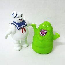 2Pcs/Set Ghostbusters Marshmallow Man Slimer Green Ghost Action Figure Toys Doll
