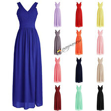 Stock New Formal Long Bridesmaid Dresses Evening Prom Party Ball Gowns size 6-20