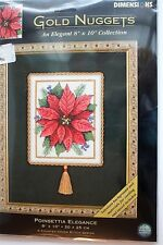 Dimensions Gold Nuggets Poinsettia Elegance Counted Cross Stitch Kit NIP