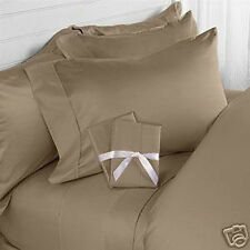 TAUPE SOLID BED SHEET SET 800 THREAD COUNT 100% EGYPTIAN COTTON SELECT YOUR SIZE