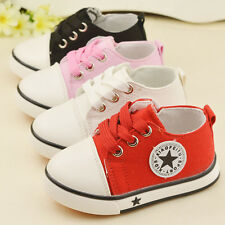 Kids Boys Girls Toddler Sports Casual Shoe Baby Boy Girl Canvas Running Shoes