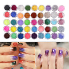 6/12/24/45Colors Glitter Dust Powder Sequins Chrome Pigment Nail Art Decoration