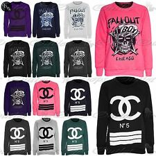 Ladies Womens Fallout Sweatshirt Chicago Boy Knitted Fleece Sweater Jumper Top