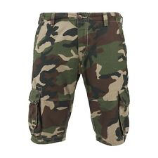 Urban Classics - FITTED CARGO Shorts wood camo