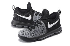 Nike Zoom KD9 GS Kevin Durant Boys Basketball Trainers Shoes Black Size UK 4 & 5