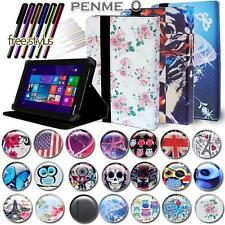 Folio Stand Leather Cover Case For Various Toshiba Encore Model Tablets + STYLUS