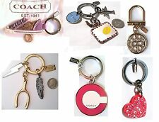 COACH Signature Shoe, Heart Key Chain Key Ring, Gold Crystal Pave & Travel NWOT