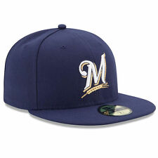 MILWAUKEE BREWERS Game New Era 5950 On Field Cap MLB Fitted Baseball Team Hat